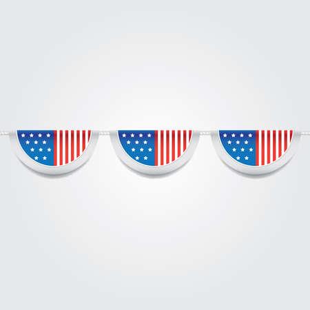 USA Flagge Flagge Abbildung. Standard-Bild - 81486974