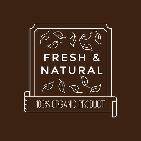 fresh and natural product label