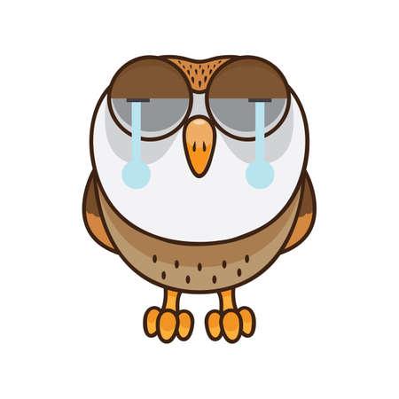 泣いているフクロウ