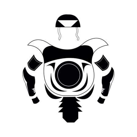 warrior costume Illustration