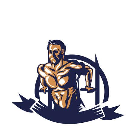 Bodybuilder sur l'affiche Banque d'images - 81538874