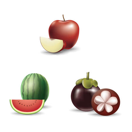 collection of fruit and slices