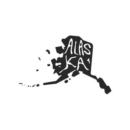 alaska state map 版權商用圖片 - 106673779