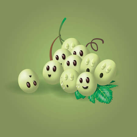 Bunch of cute grapes