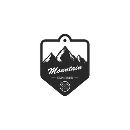 mountain tag Illustration
