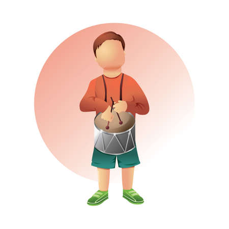 boy playing drum