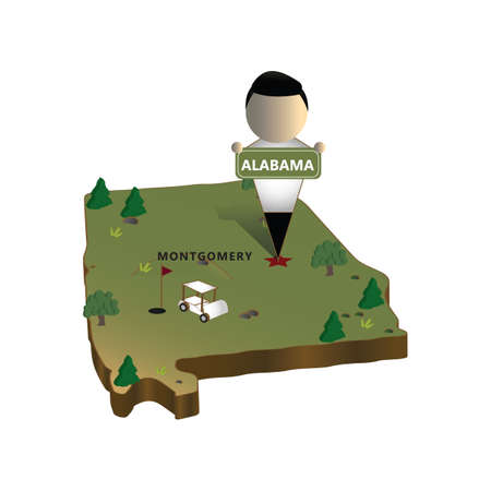 alabama state map Stock Illustratie