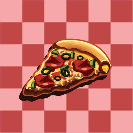 피자 조각 일러스트