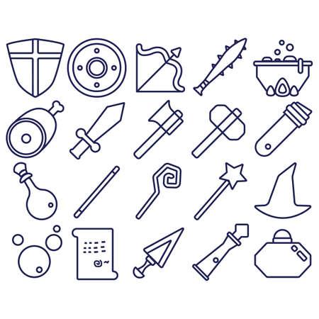 set di icone di fantasia
