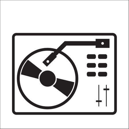 DJ turntable 向量圖像