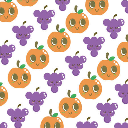 Orange and grapes background