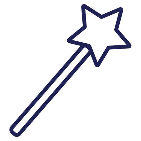 angel magic wand Illustration