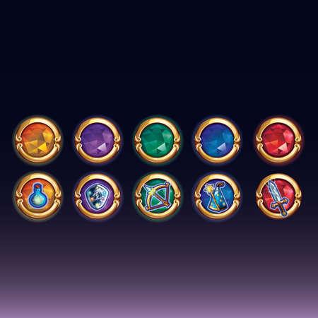 conjunto de iconos de fantasía