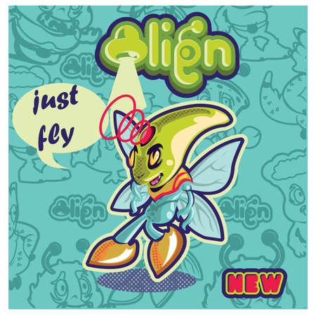 외계인 문자 디자인 스톡 콘텐츠 - 81538137