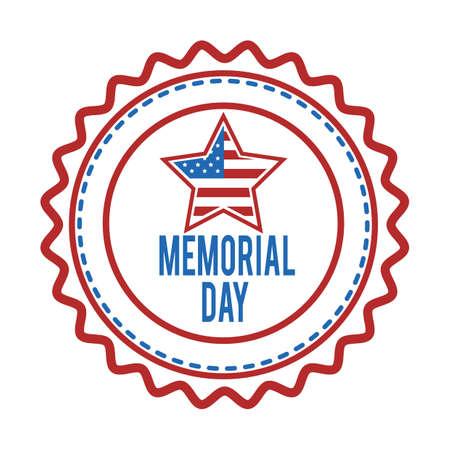 Memorial day label.