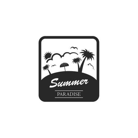 Summer paradise label