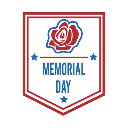 Memorial day label. Stok Fotoğraf - 81469951