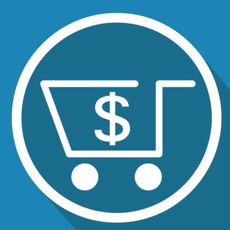 shopping cart with dollar symbol