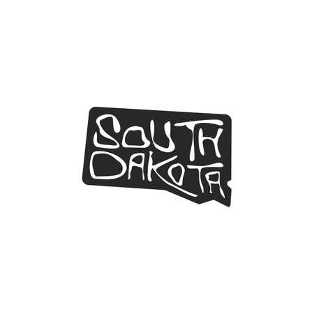 south dakota state map Stock Vector - 106673837