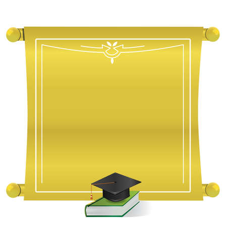 Graduation scroll Ilustrace
