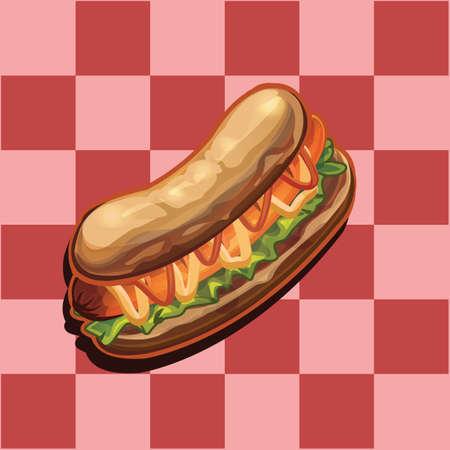 잠수함 샌드위치 일러스트