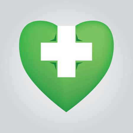 Hart met kruis