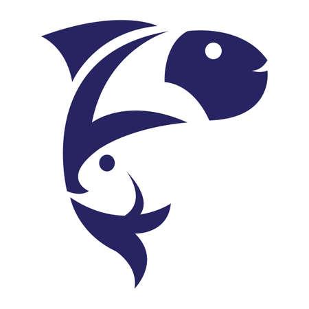 abstract fish 向量圖像