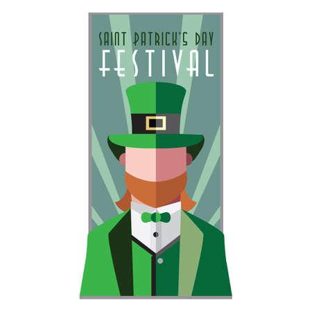 saint patrick's day festival poster Illustration