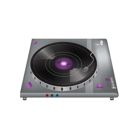 Vinyl draaitafel Stock Illustratie