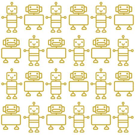 ロボットの背景  イラスト・ベクター素材