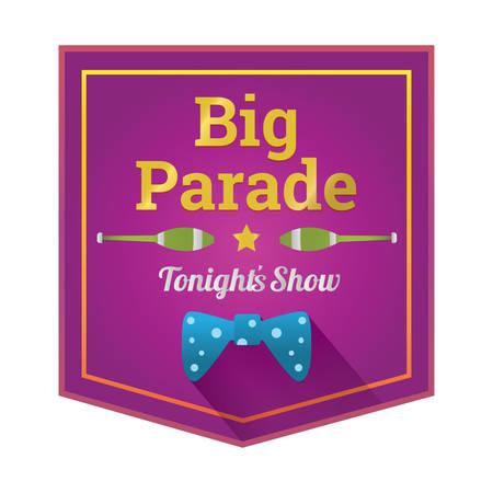 big parade label Illustration