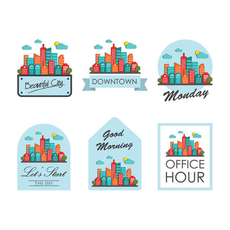 Collection of labels Illustration
