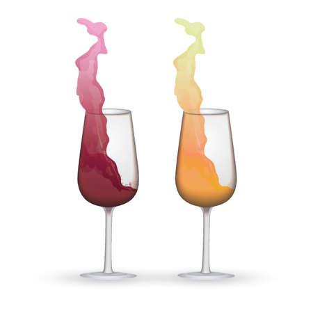 wine glasses Ilustrace