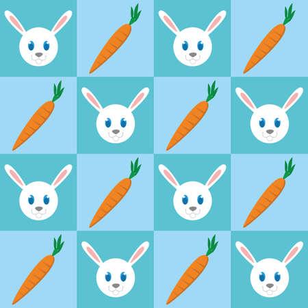 토끼와 당근 배경