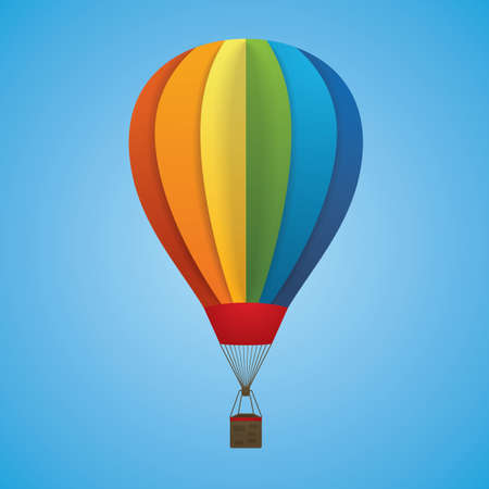 Hot air balloon Stock Illustratie