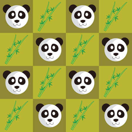 Panda and bamboo stick background Imagens - 81538182