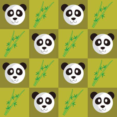Panda and bamboo stick background