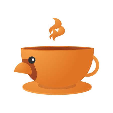 Bird shaped teacup Stock fotó - 81469648