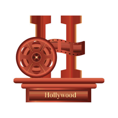 hollywood film reel Ilustrace