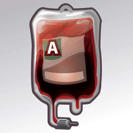 blood bag with blood group a