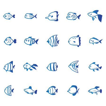 collection of fishes Ilustrace