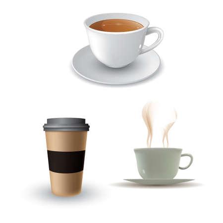 Sammlung von Kaffeetassen