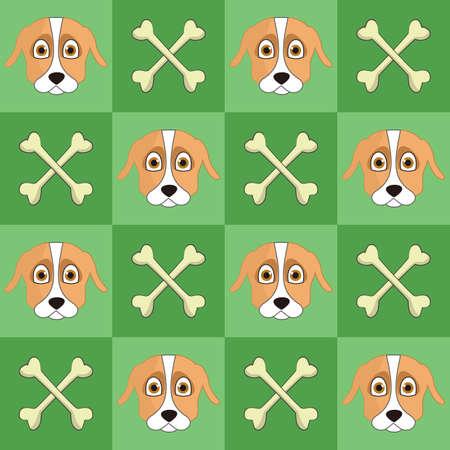 Dog and crossbones background Ilustração
