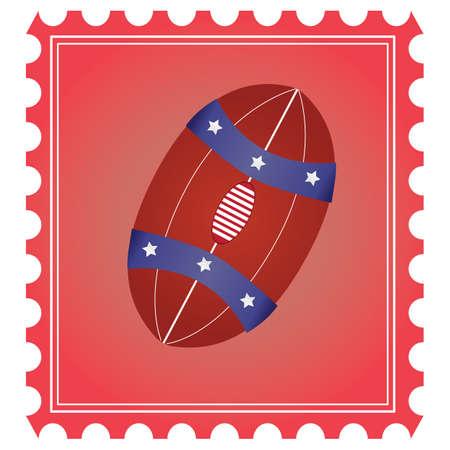 Rugby ball Illusztráció