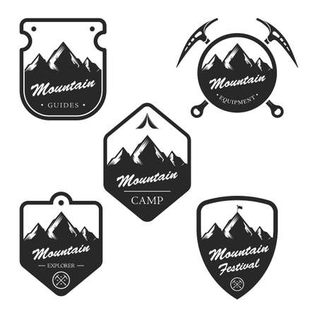 collection of mountain labels
