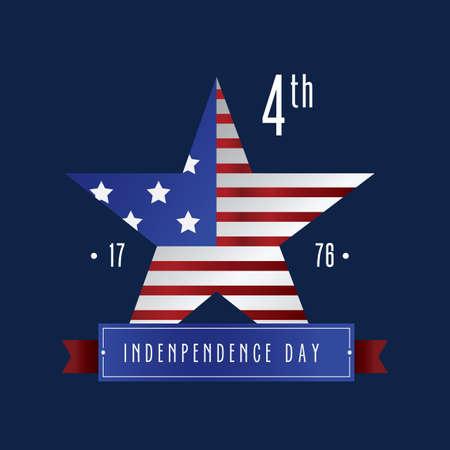 Etiqueta del día de la independencia de Estados Unidos Foto de archivo - 81470690