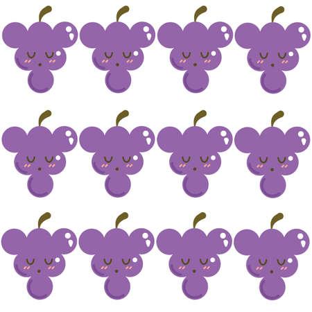 Grapes background Ilustração