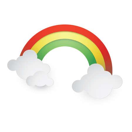 rainbow and clouds Zdjęcie Seryjne - 81536485