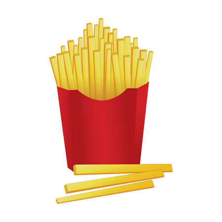 french fries Stock Vector - 81536767