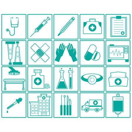collection of medical icons Ilustração